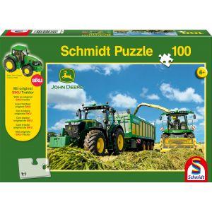 John Deere: 7310R Traktor mit 8600i Feldhäcksler