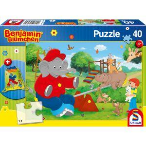 Benjamin Blümchen: Kinderpuzzle mit Turnbeutel