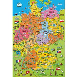 Deutschlandkarte mit Bildern