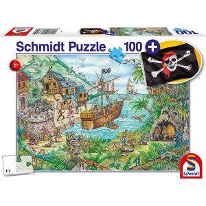 Kinderpuzzle mit add on, Motiv: In der Piratenbucht