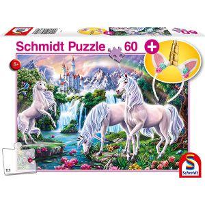 Kinderpuzzle mit add on, Motiv: Traumhafte Einhörner