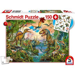 Kinderpuzzle mit add on, Motiv: Wilde Dinos