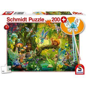 Kinder Puzzle mit add on, Motiv: Feen im Wald