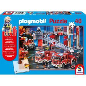 Playmobil, Feuerwehr, 40 Teile, mit Add-on (Original Figur)