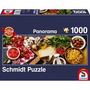 Panorama Puzzle: Italienische Küche