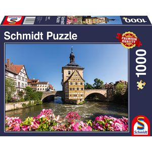 Bamberg, Regnitz und Altes Rathaus