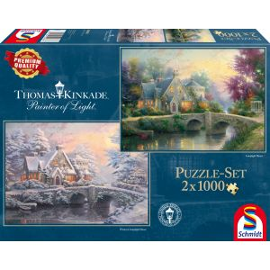 Thomas Kinkade: Lamplight Manour & Winter in Lamplight Manour