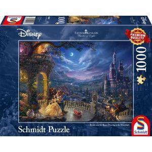 Thomas Kinkade: Disney Die Schöne und das Biest - Tanz im Mondlicht