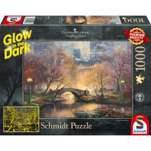 Thomas Kinkade: Central Park im Herbst - Glow in the Dark