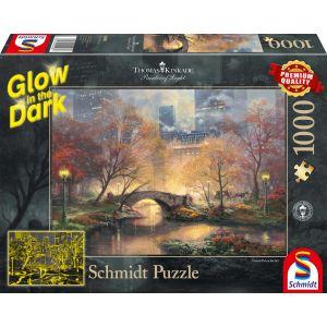 Thomas Kinkade: Central Park im Herbst - Glow in the Dark