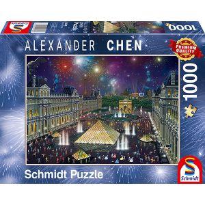 Alexander Chen, Feuerwerk am Louvre