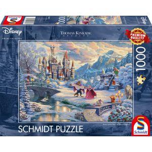 Thomas Kinkade Studios: Disney, Die Schöne und das Biest, Zauberhafter Winterabend, Limited Christmas Edition