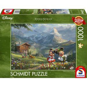 Thomas Kinkade Studios - Mickey & Minnie in den Alpen