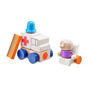 Klettini® Krankenwagen, Klett-Stapelspielzeug, 7 Teile
